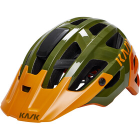 Kask Rex Cykelhjelm, dark green/orange